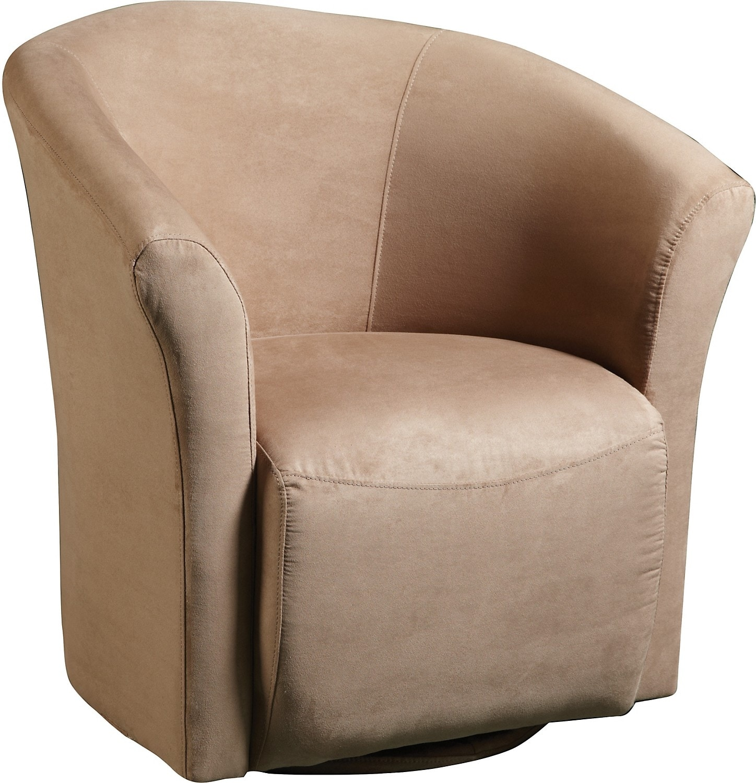 Living Room Furniture - Mocha Microfibre Swivel Tub Chair