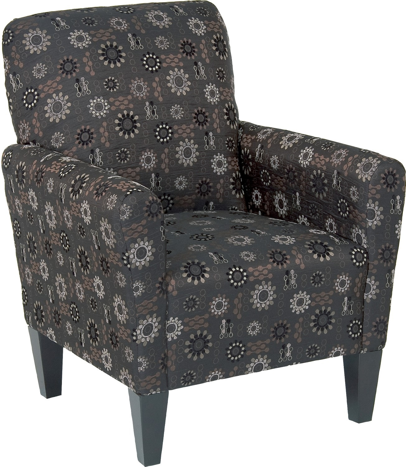 Living Room Furniture - Designed2B Polyester Accent Club Chair - Graphite