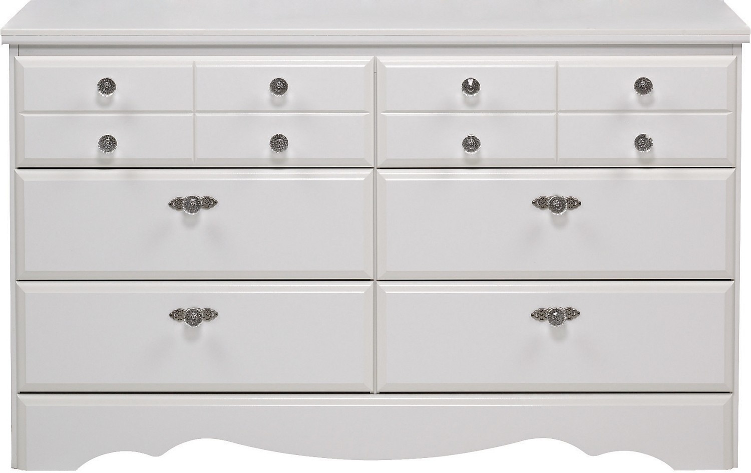 Diamond Dreams 6-Drawer Dresser