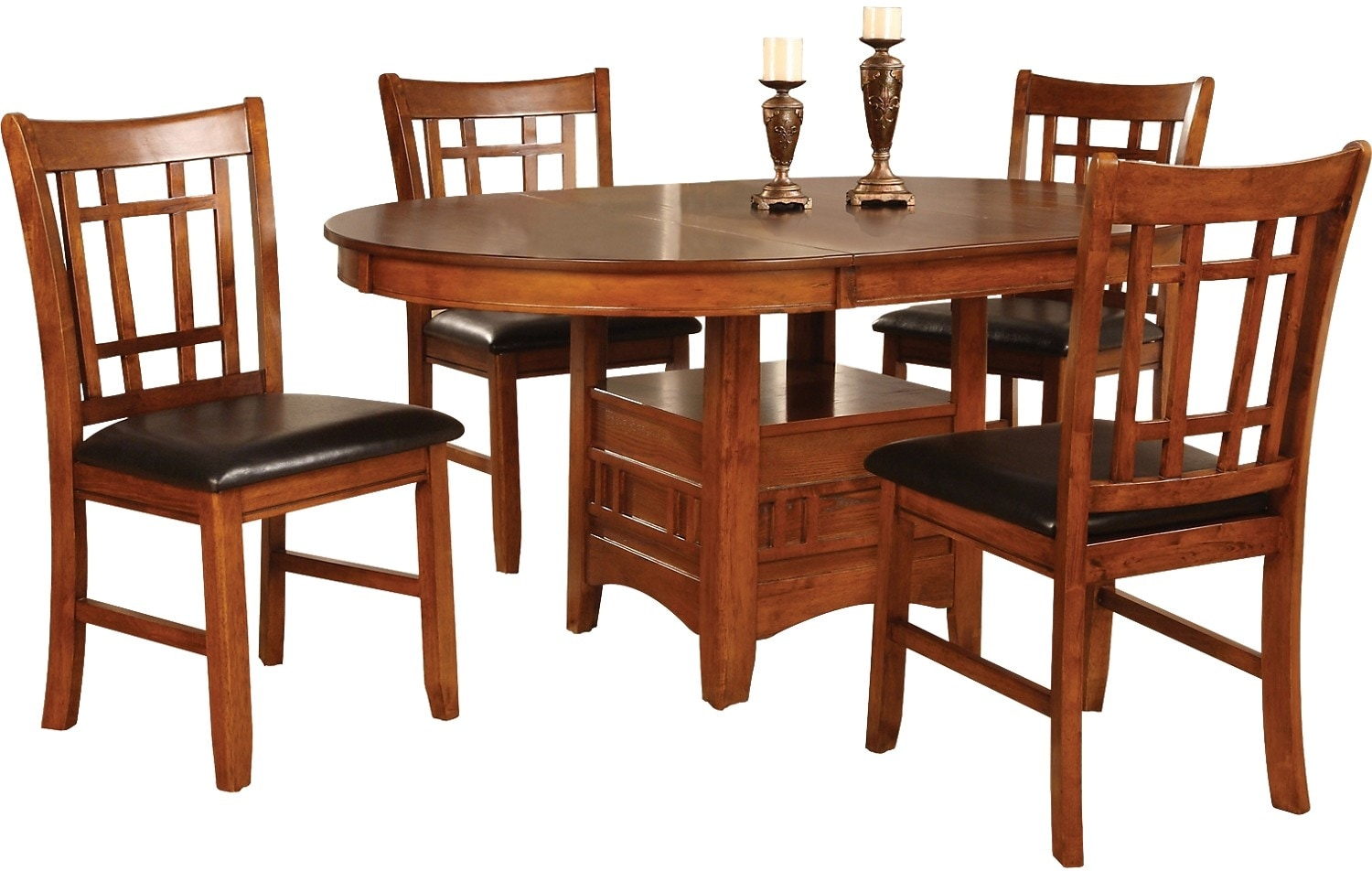 Dalton 5 piece oak dining package the brick for Dining room tables the brick