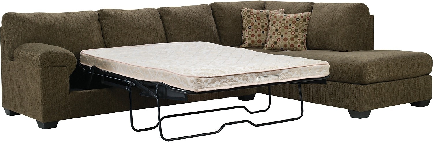 Morty Chenille Sofa Bed Sectional With Right Chaise