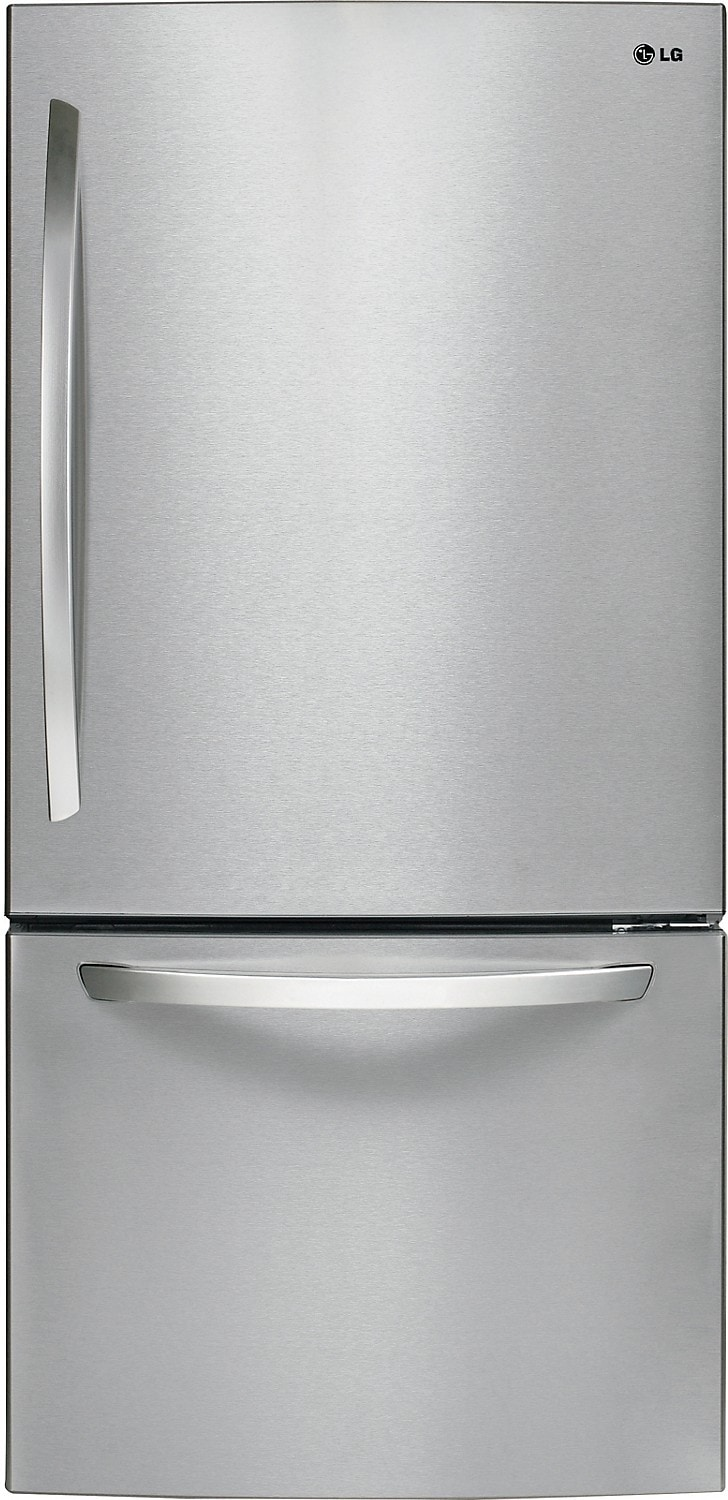 Refrigerators and Freezers - LG 24 Cu. Ft. Bottom Freezer Refrigerator with Smart Cooling – Stainless Steel