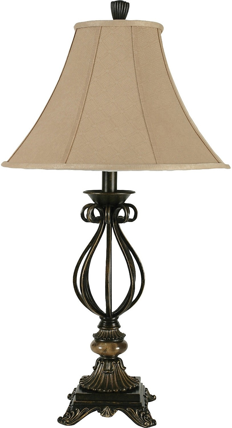Aged Bronze Table Lamp