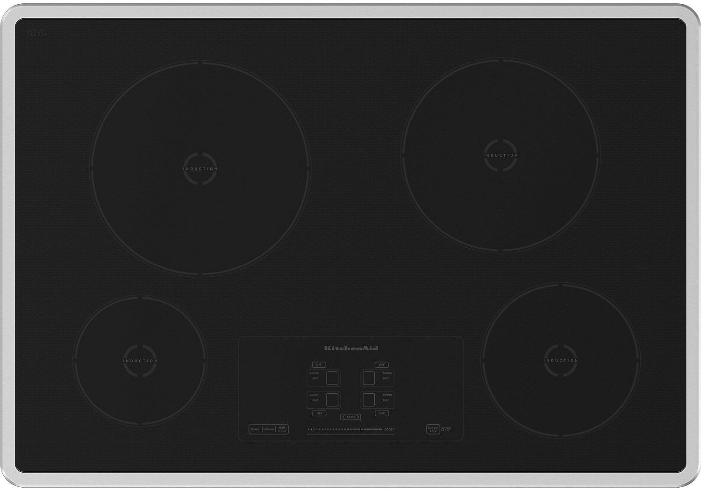 30 Kitchenaid Architect Series Ii Induction Cooktop W 4 Elements Kicu500xss United