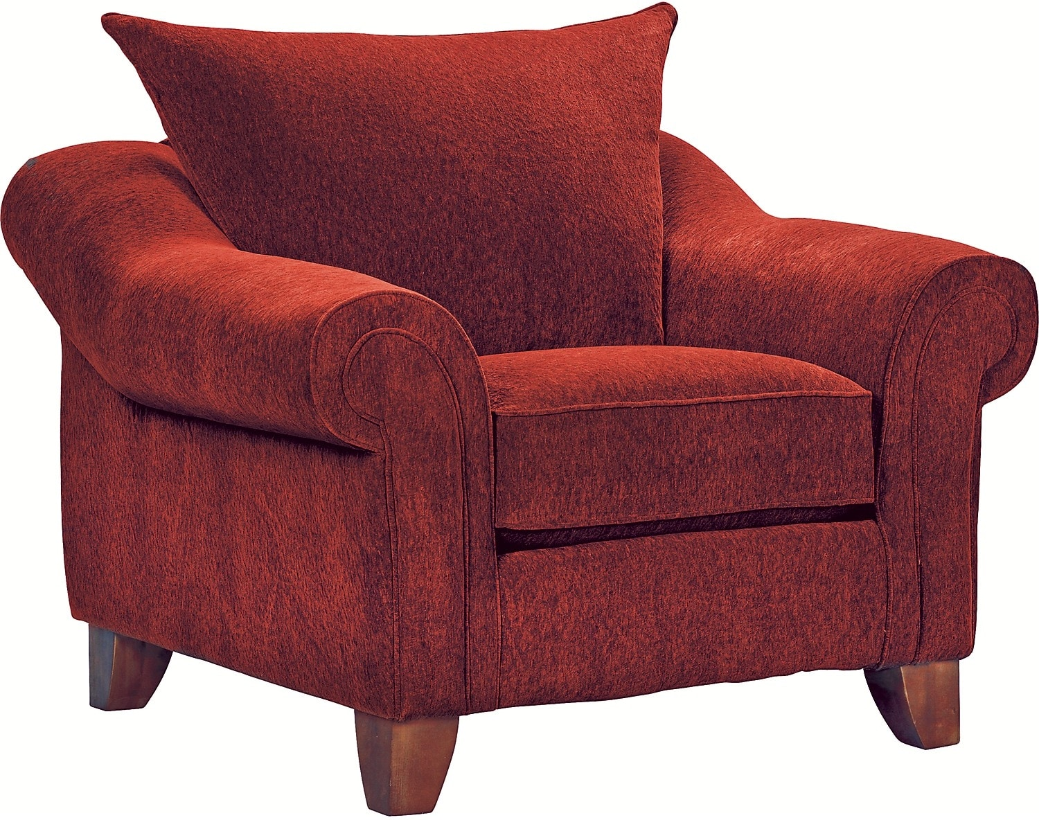 Reese Chenille Chair Red The Brick