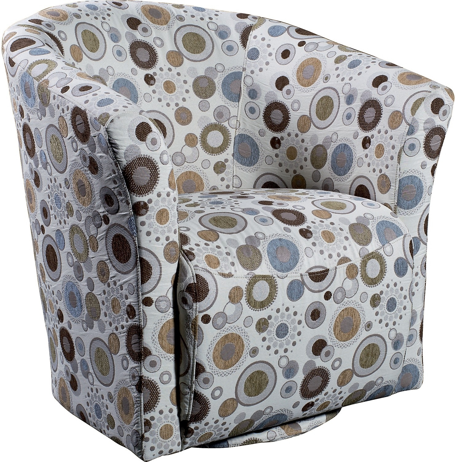 Living Room Furniture - Sundial Accent Fabric Swivel Tub Chair