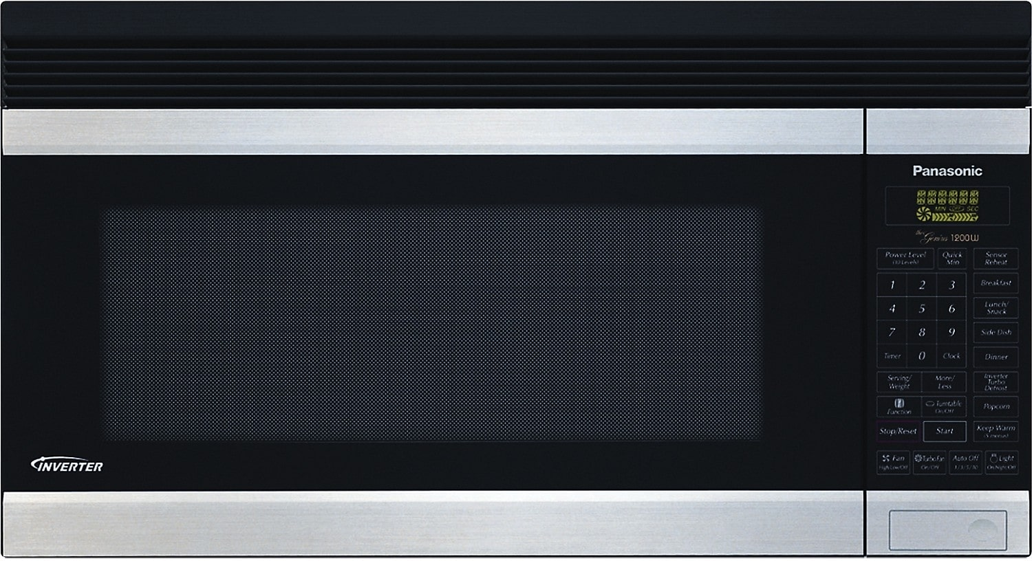Cooking Products - Panasonic 2.0 Cu. Ft. OTR Microwave – Stainless Steel
