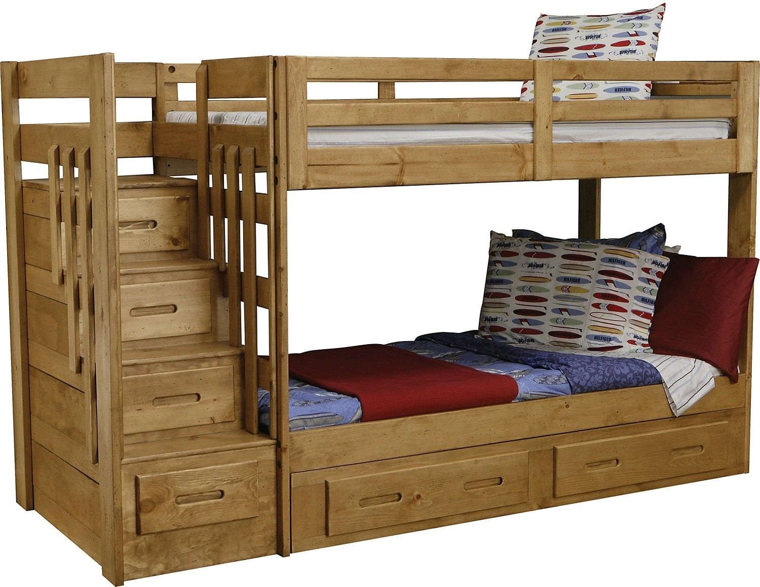 ponderosa staircase bunk bed the brick