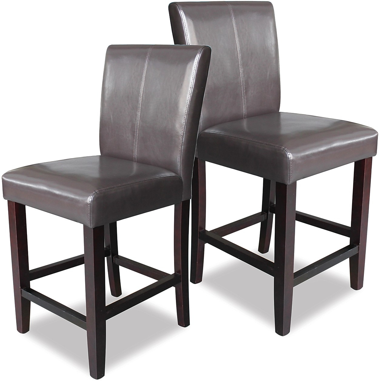 Dining Room Furniture - Kendall Brown Accent Counter Chairs, Set of 2