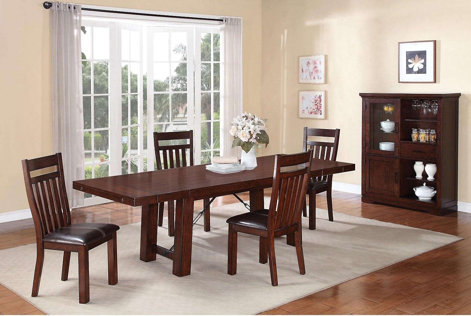 Dining Room Furniture - Sonoma 8-Piece Dining Package with Server