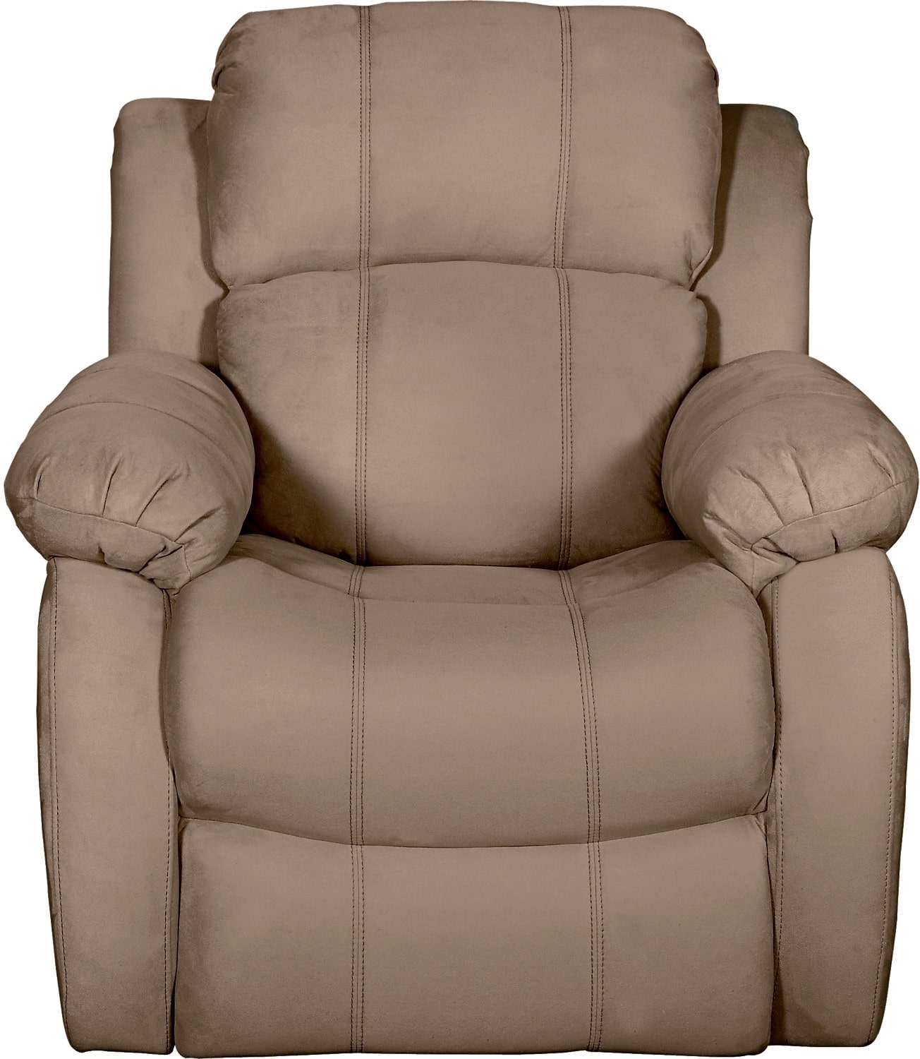 Living Room Furniture - Omega 2 Microsuede Reclining Chair – Mocha