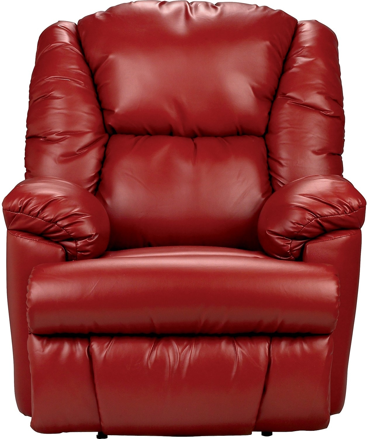 Living Room Furniture - Bmaxx Bonded Leather Power Reclining Chair – Red