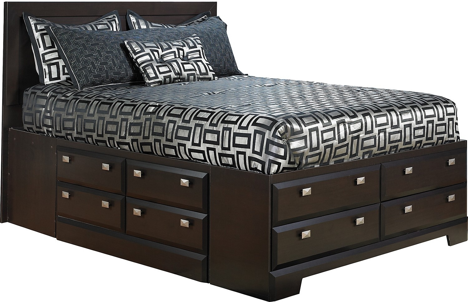 Yorkdale queen bed with storage the brick for Bedroom furniture queen storage bed