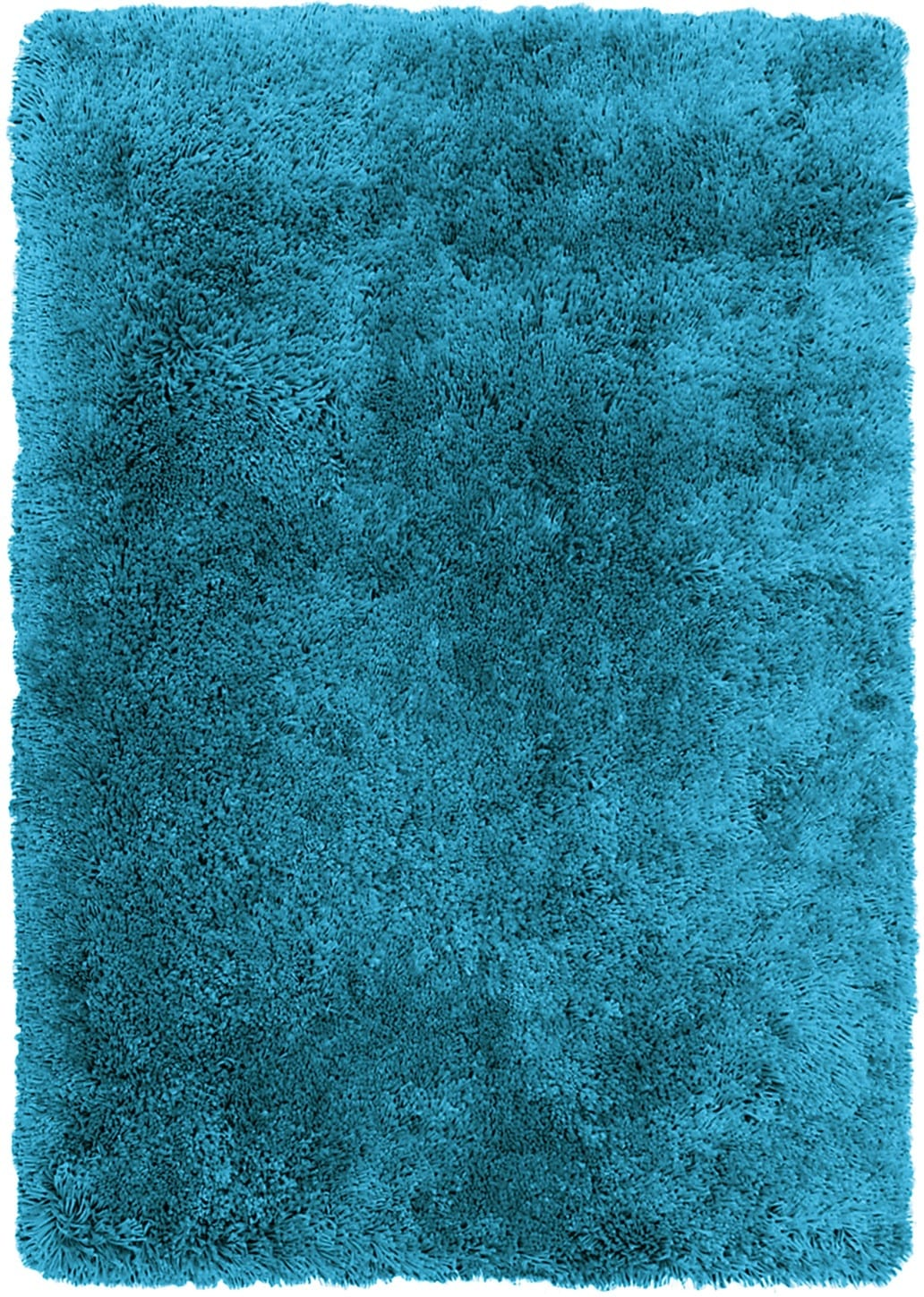 Aqua Fashion Shag Area Rug – 4' x 5'