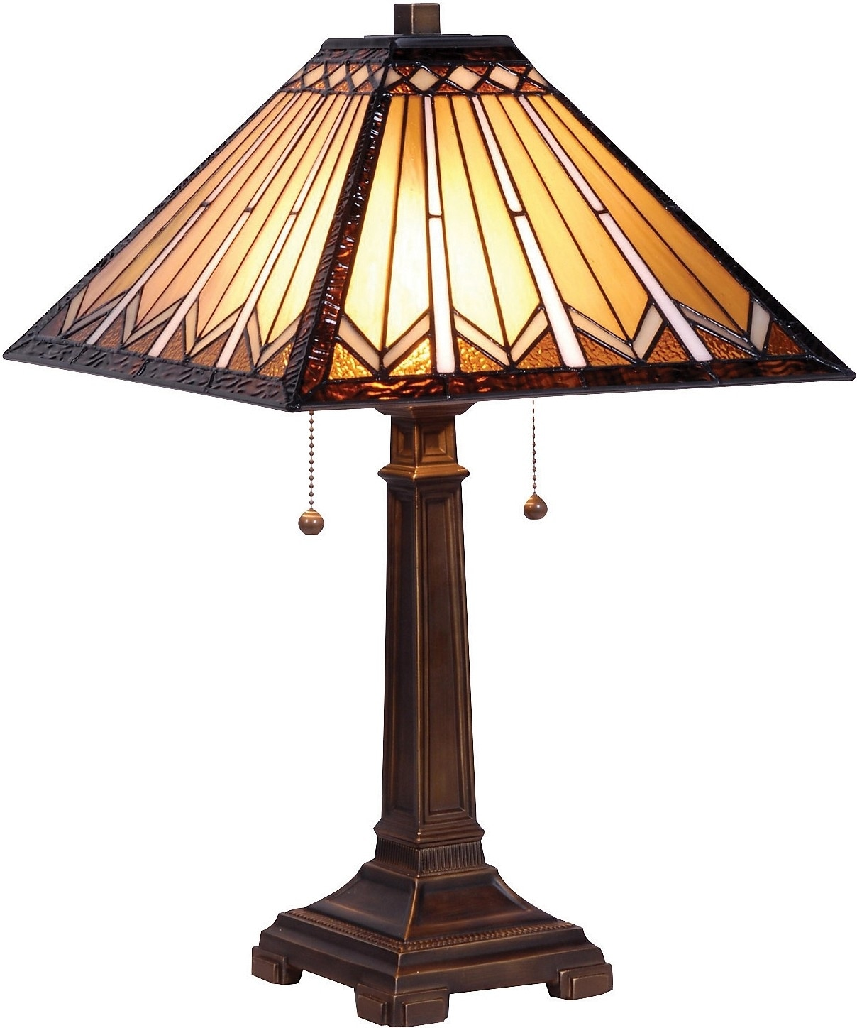 Home Accessories - Danbury Table Lamp with Stained Glass Shade