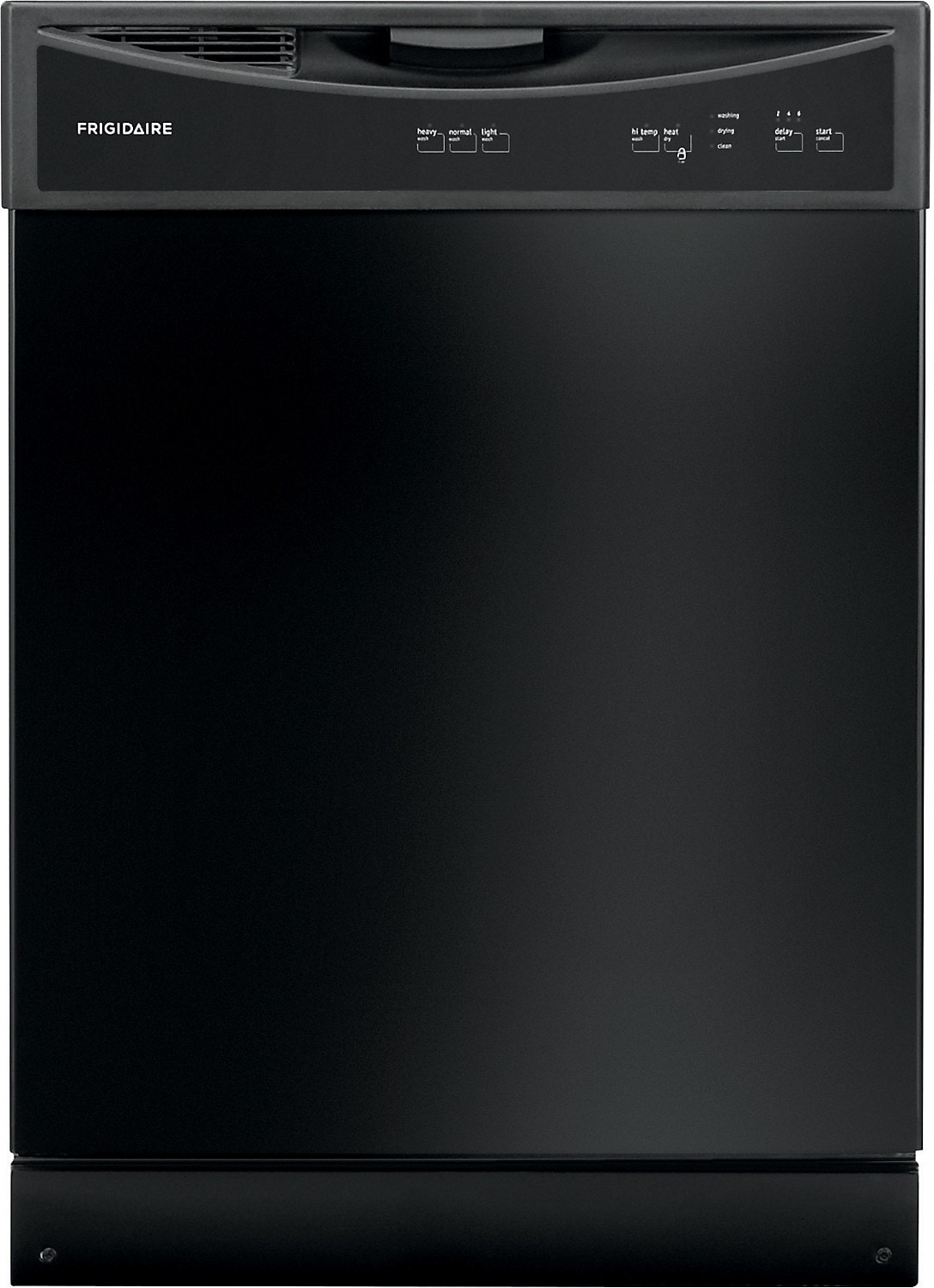 "Frigidaire 24"" Built-In Large-Capacity Dishwasher – Black"