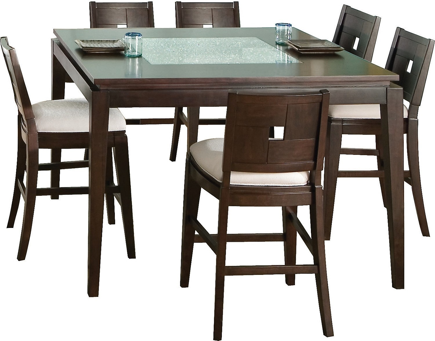 Dining Room Furniture - Spiga 7 Piece Counter-Height Dining Package
