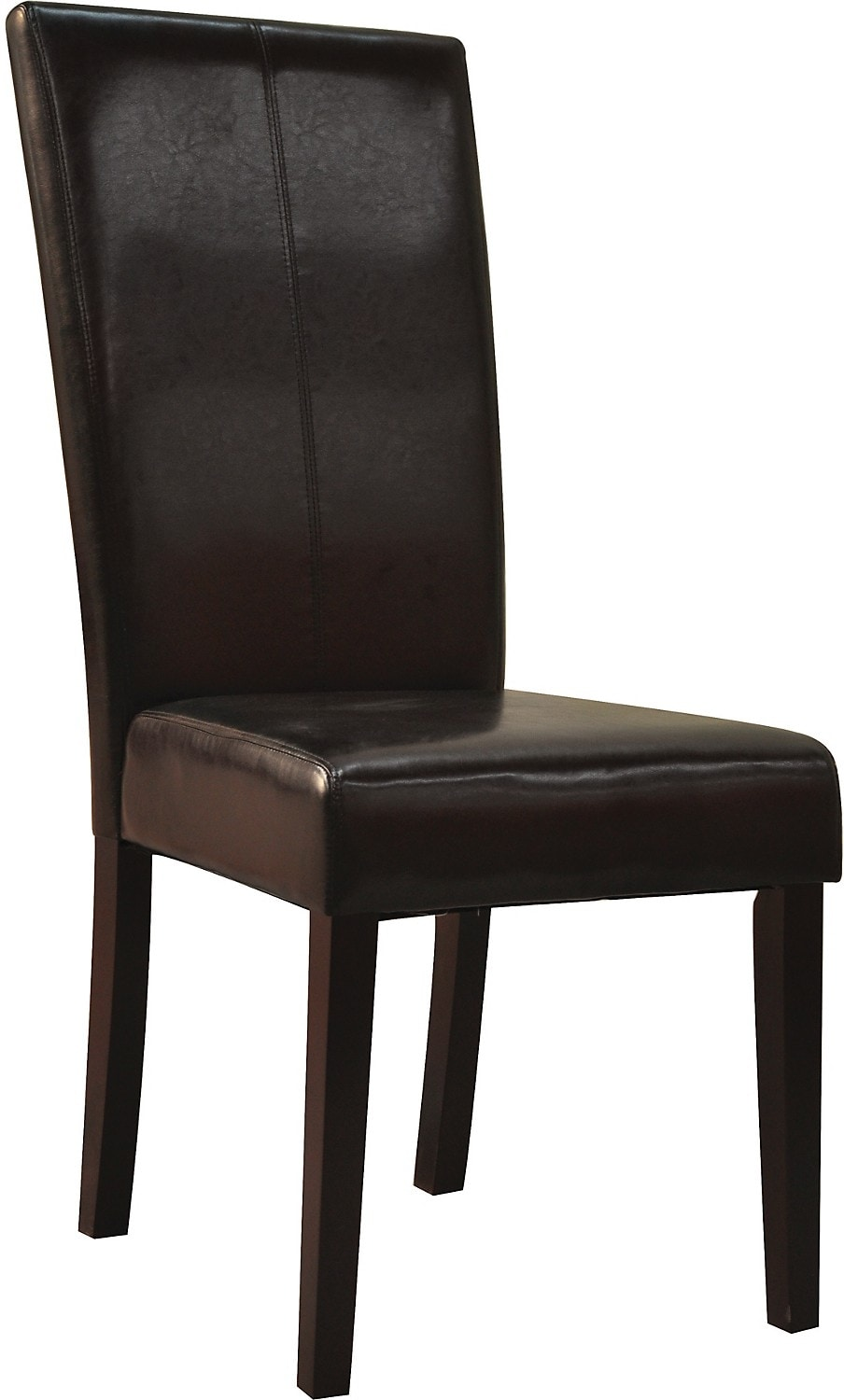 Brown faux leather dining chair the brick for Leather dining room chairs