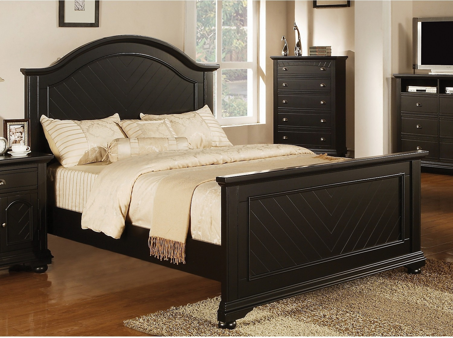 Bedroom Furniture - Brook Black Queen Bed