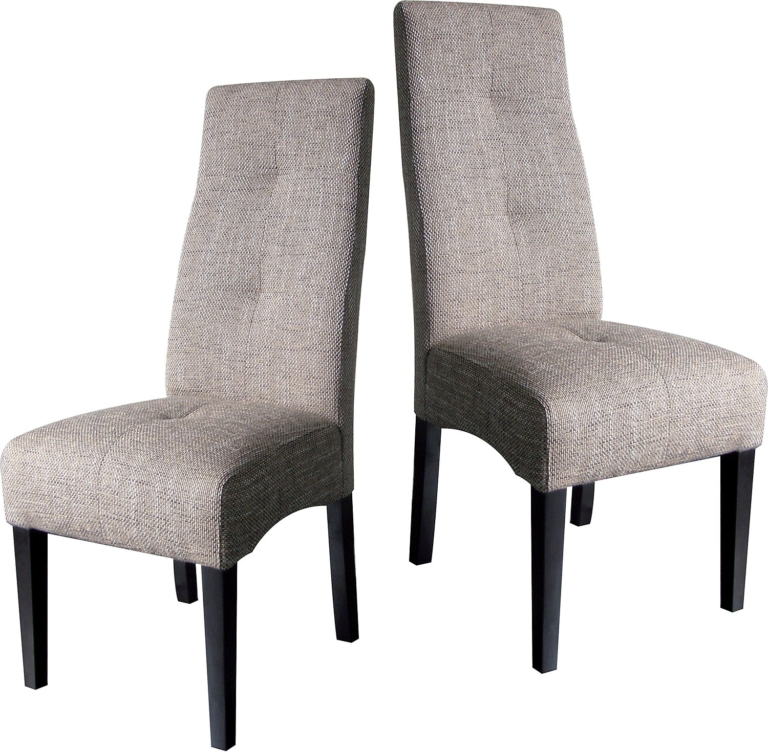 Dining Room Furniture - Idea Beige Linen Two Chair Package