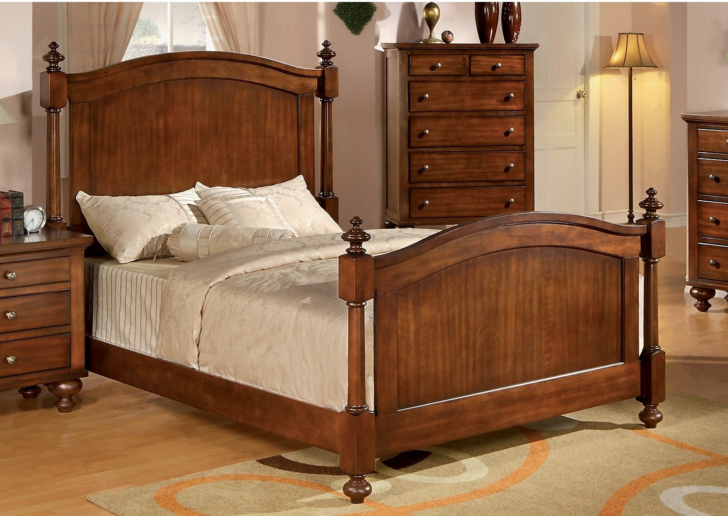 Bedroom Furniture - Kennedy Cherry King Bed