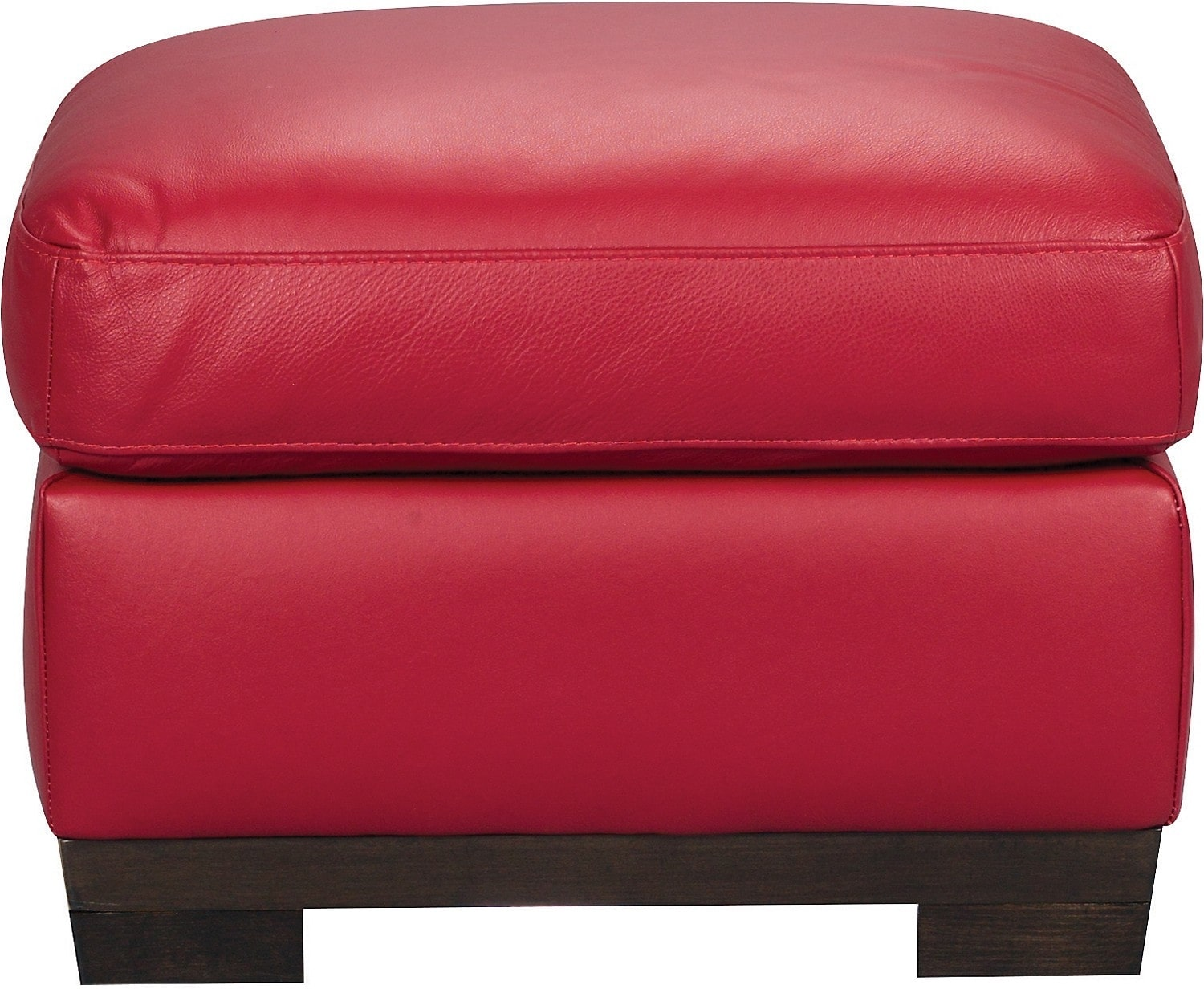 Living Room Furniture - Layla Genuine Leather Ottoman – Red