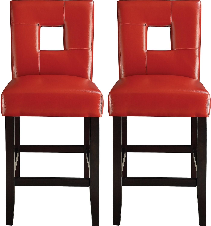 2 chaise de salle manger de hauteur comptoir mckenna for Chaise salle a manger rouge