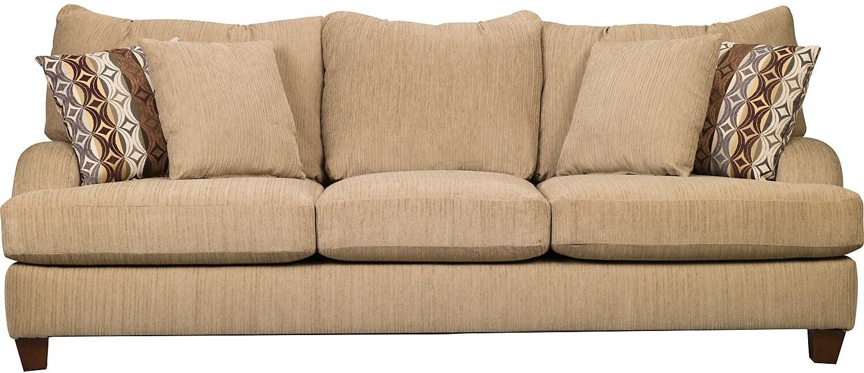 Living Room Furniture - Putty Chenille Sofa - Beige