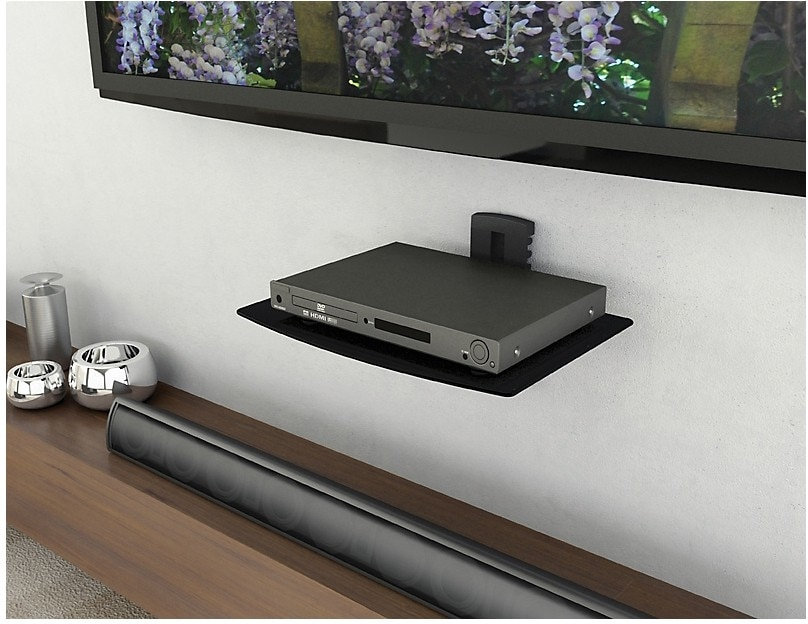 Televisions - Sonax Wall Mount Component Shelf - Black