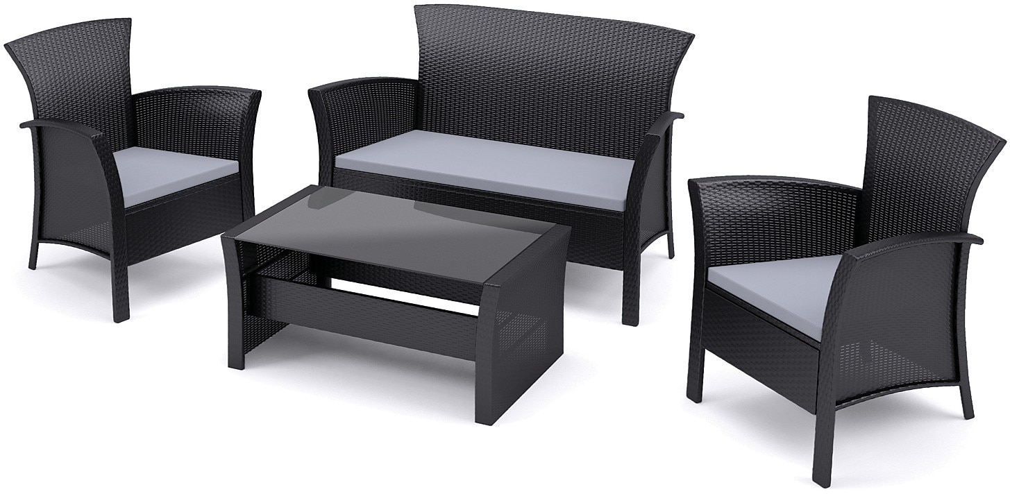Cascade 4-Piece Conversation Patio Set