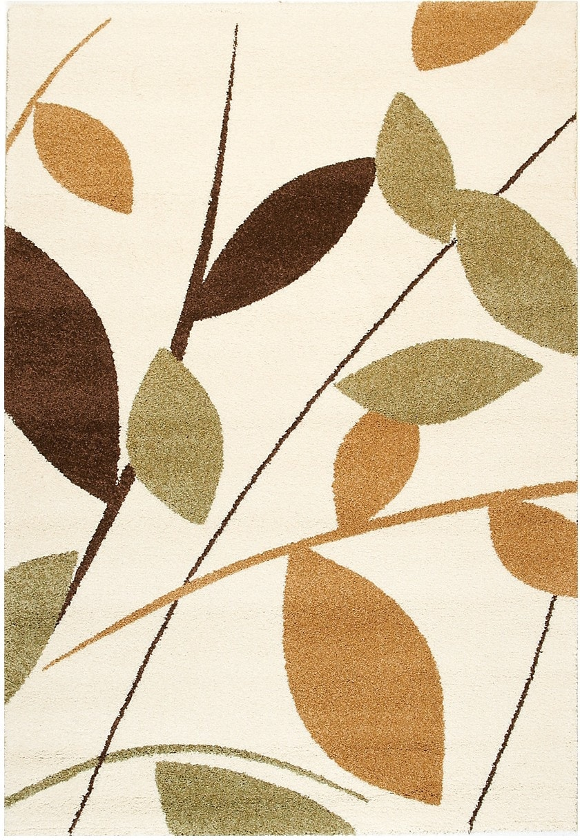 Rugs - Ashbury Green, Brown and Cream Area Rug – 5' x 8'