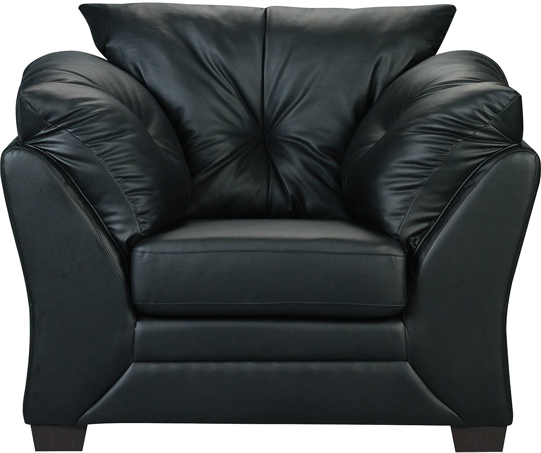 Composite Leather Sofa: Max Faux Leather Sofa - Black