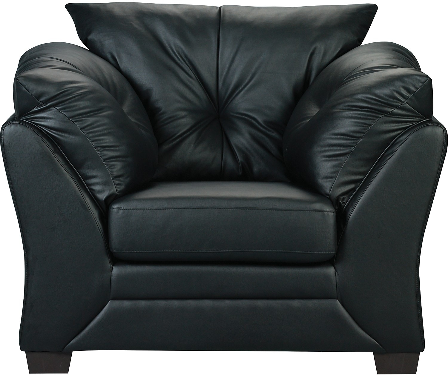 Living Room Furniture - Max Faux Leather Chair - Black