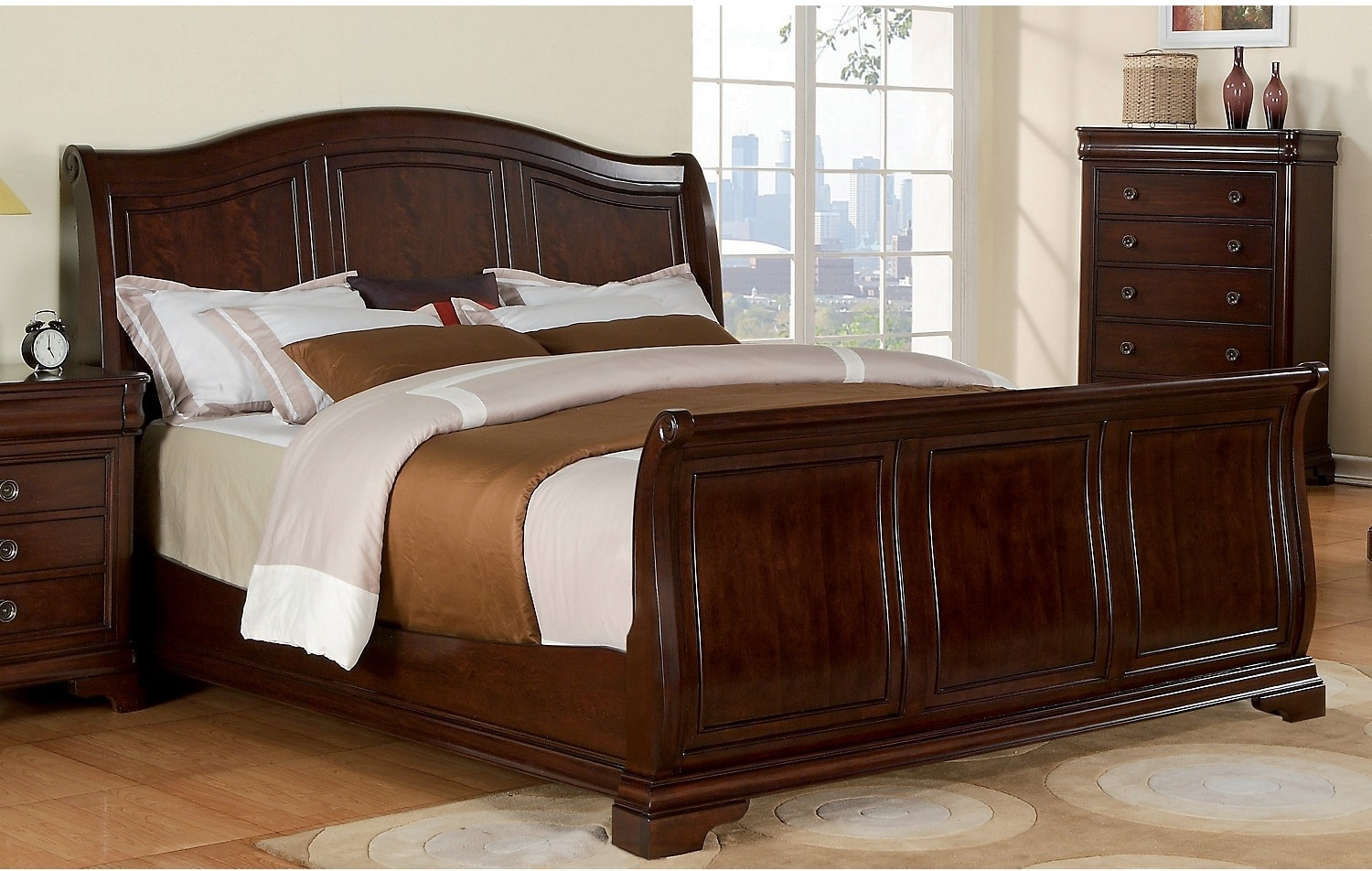 Cameron king sleigh bed united furniture warehouse for King sleigh bed bedroom sets