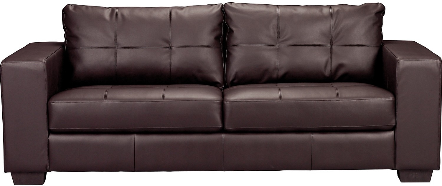 Living Room Furniture - Costa Brown Bonded Leather Sofa