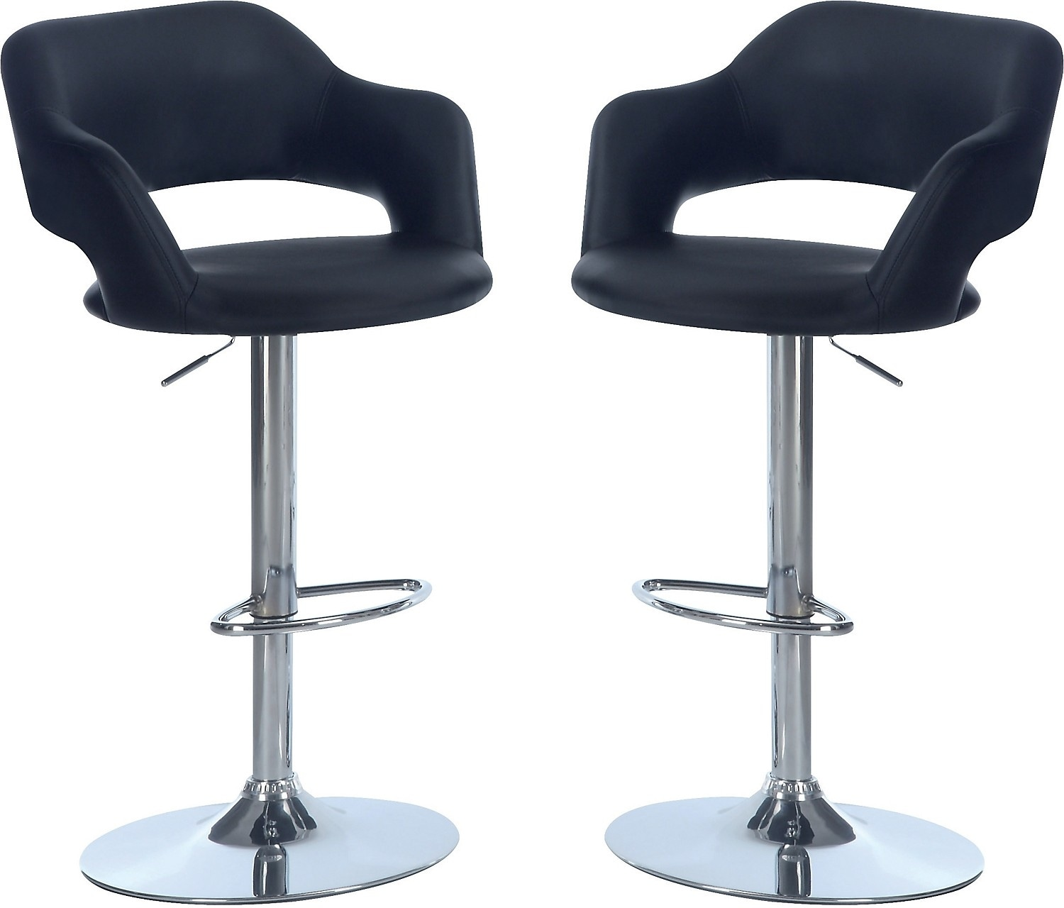Accent and Occasional Furniture - Hydraulic Bar Stool Package – Black