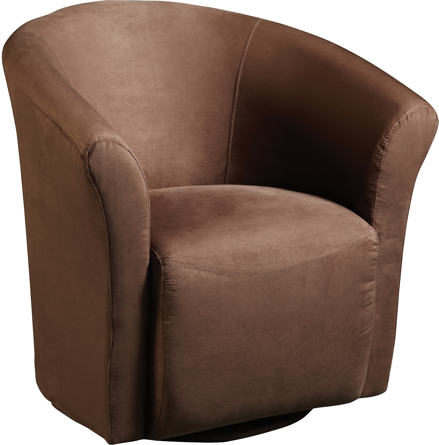 Chocolate Microfibre Swivel Tub Chair