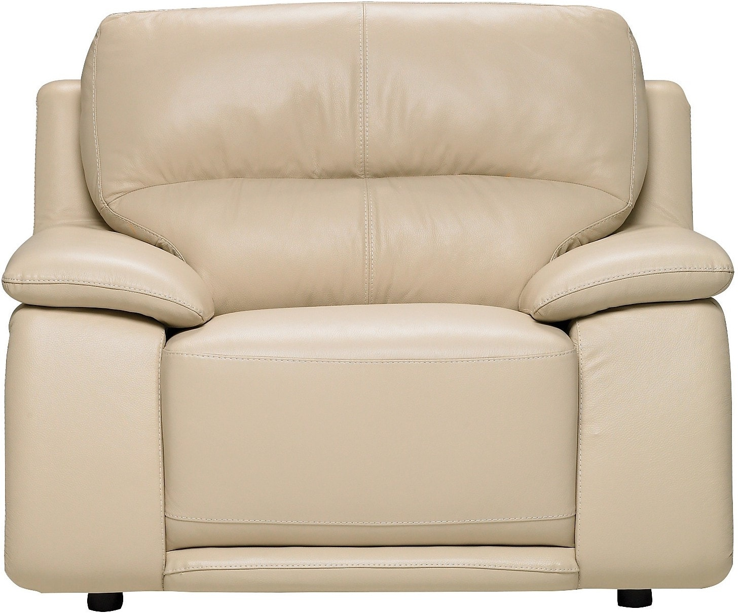 Chateau d'Ax 100% Genuine Leather Chair - Ivory