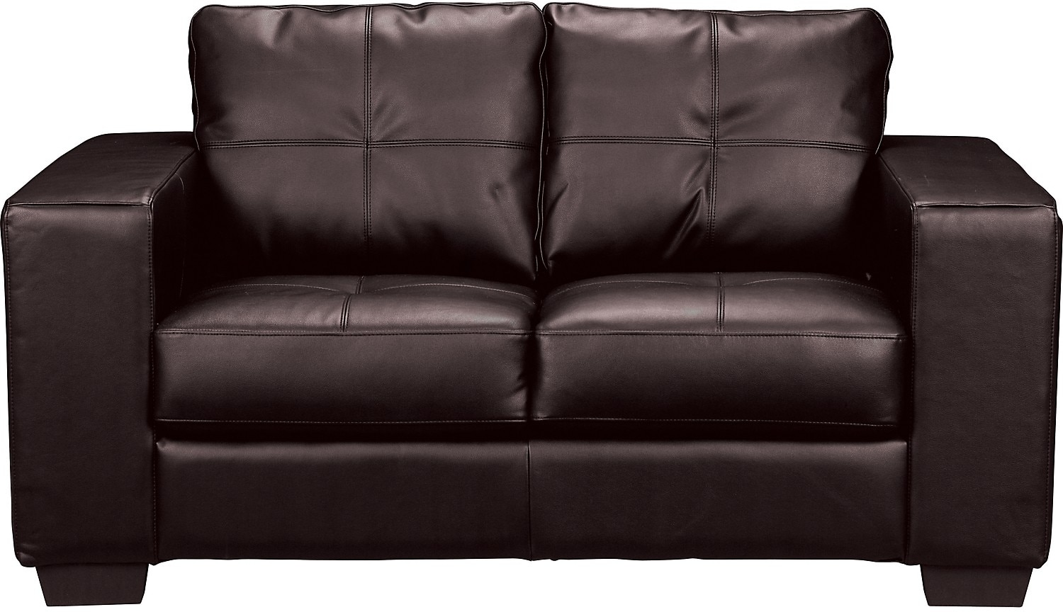 Living Room Furniture - Costa Brown Bonded Leather Loveseat