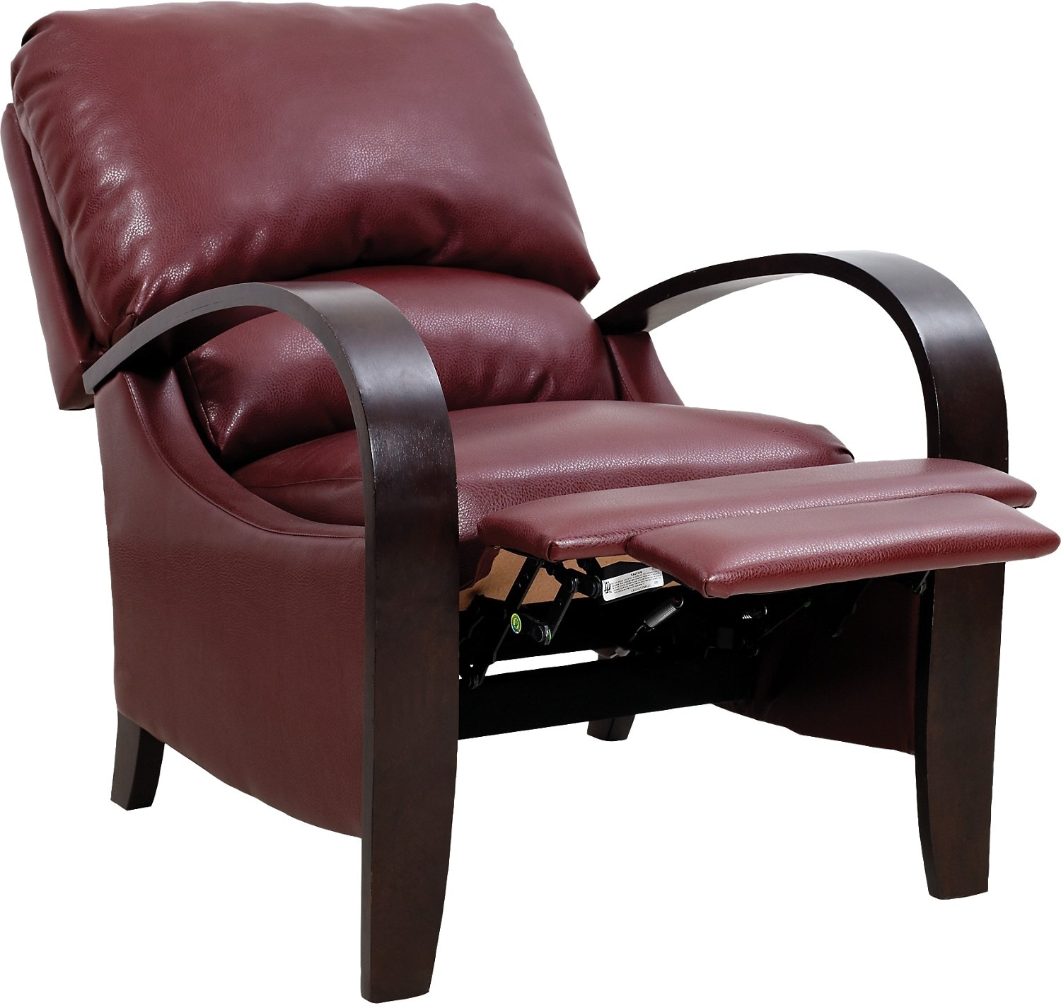 Aaron Red Reclining Accent Chair