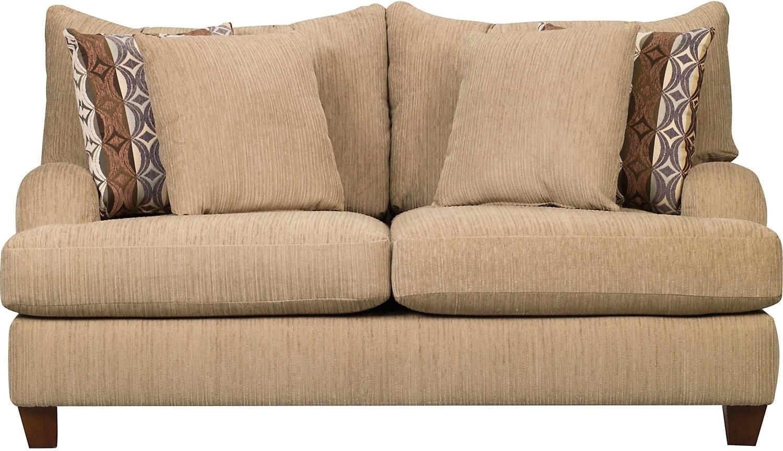 Putty Chenille Loveseat Beige United Furniture Warehouse