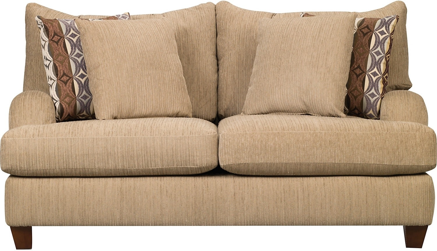 Putty chenille sofa beige united furniture warehouse for Beige chenille sectional sofa