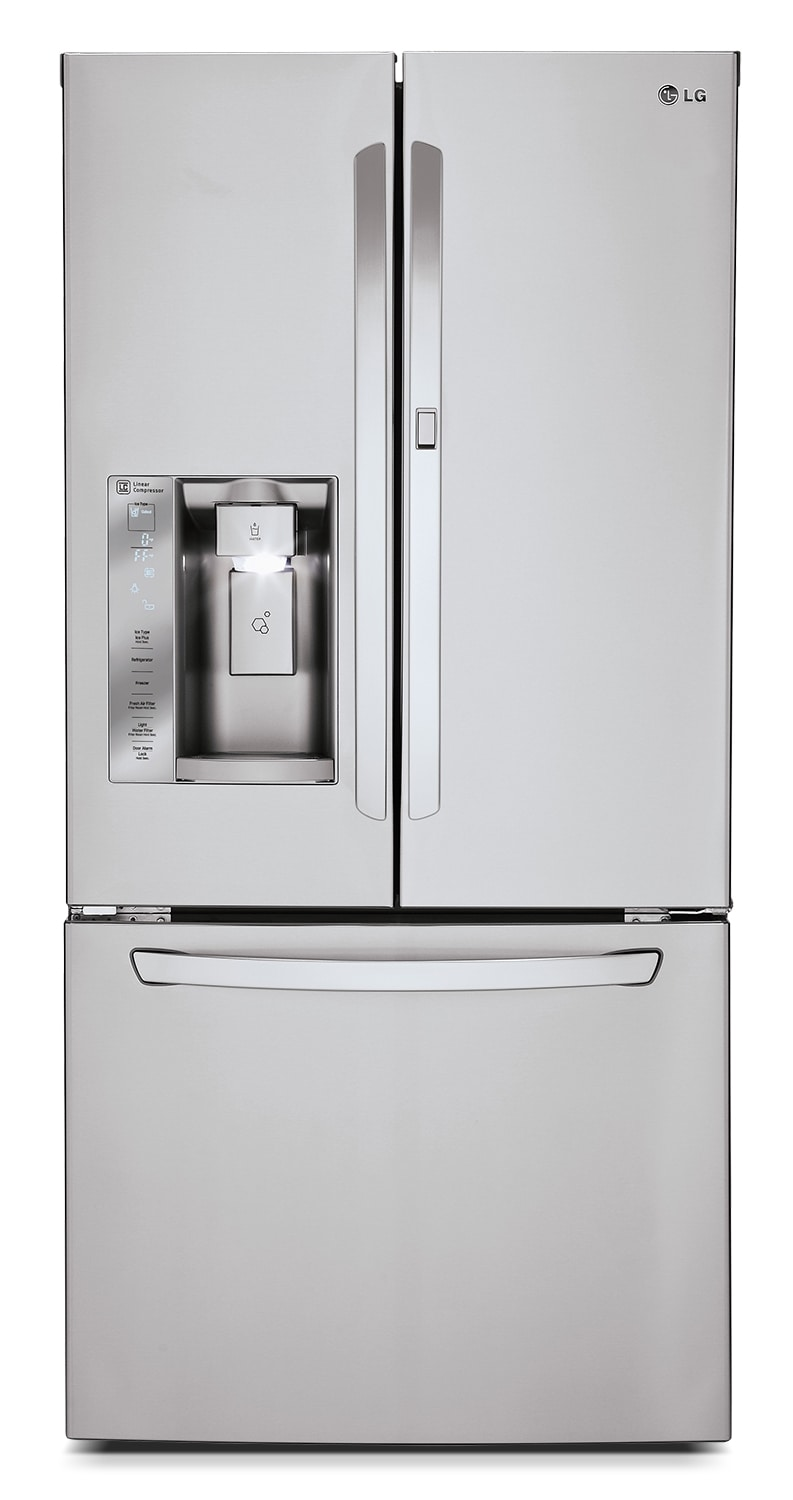 [LG Appliances Stainless Steel French Door Refrigerator (24 Cu. Ft.) - LFXS24663S]