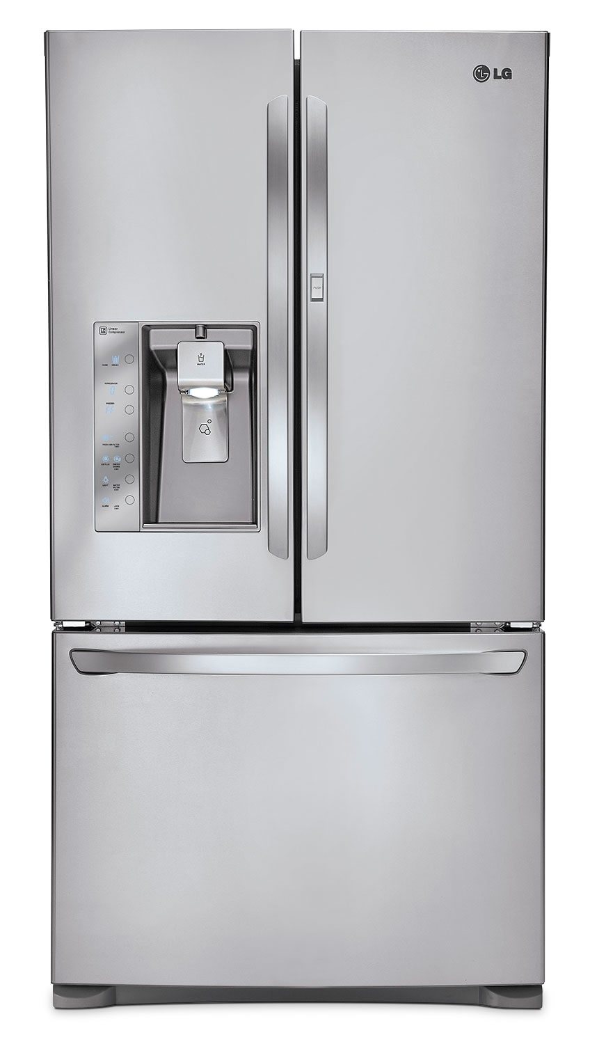 Refrigerators and Freezers - LG Appliances Stainless Steel French Door Refrigerator (23.8 Cu. Ft.) - LFXC24766S