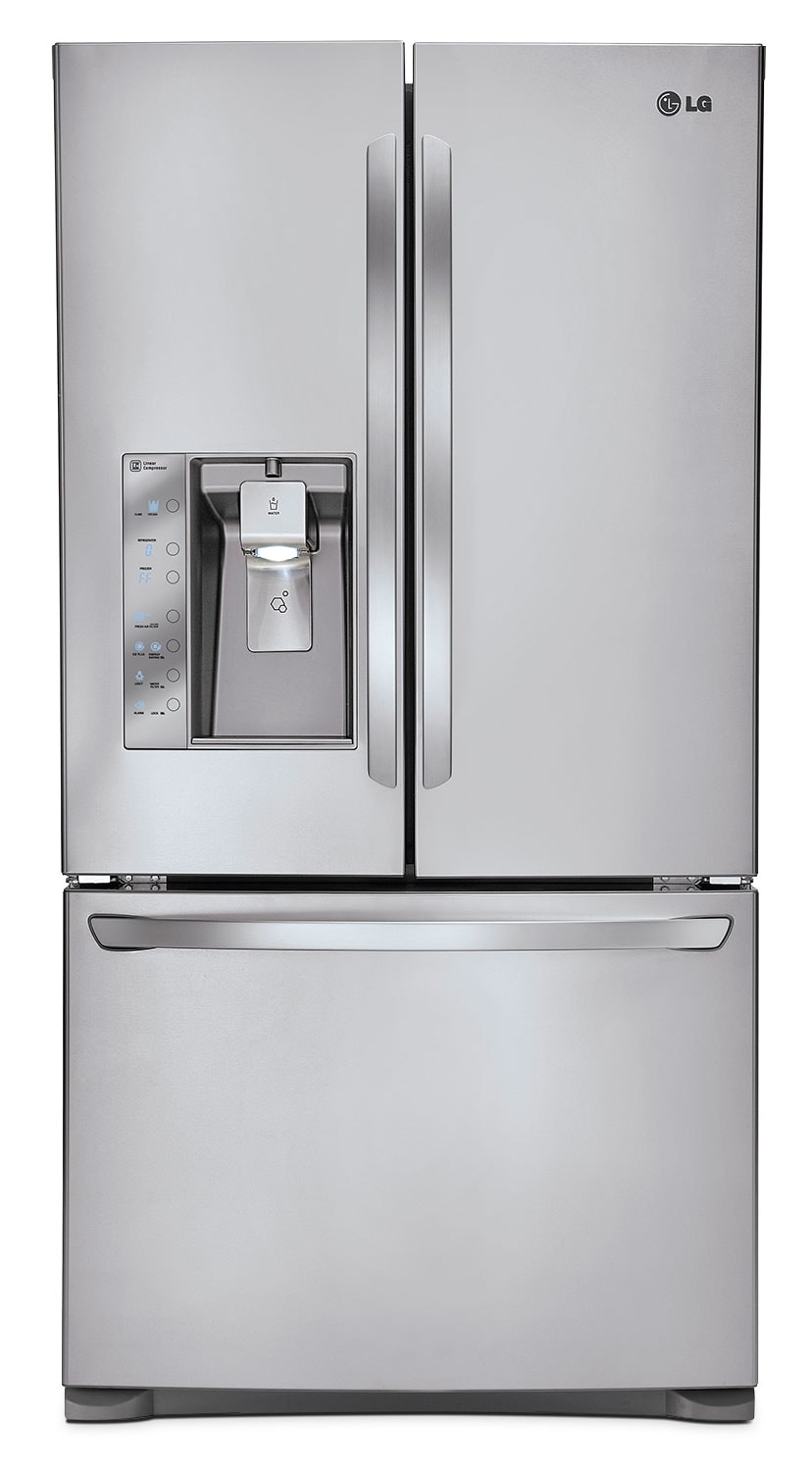 Refrigerators and Freezers - LG Appliances Stainless Steel French Door Refrigerator (24 Cu. Ft.) - LFXC24726S