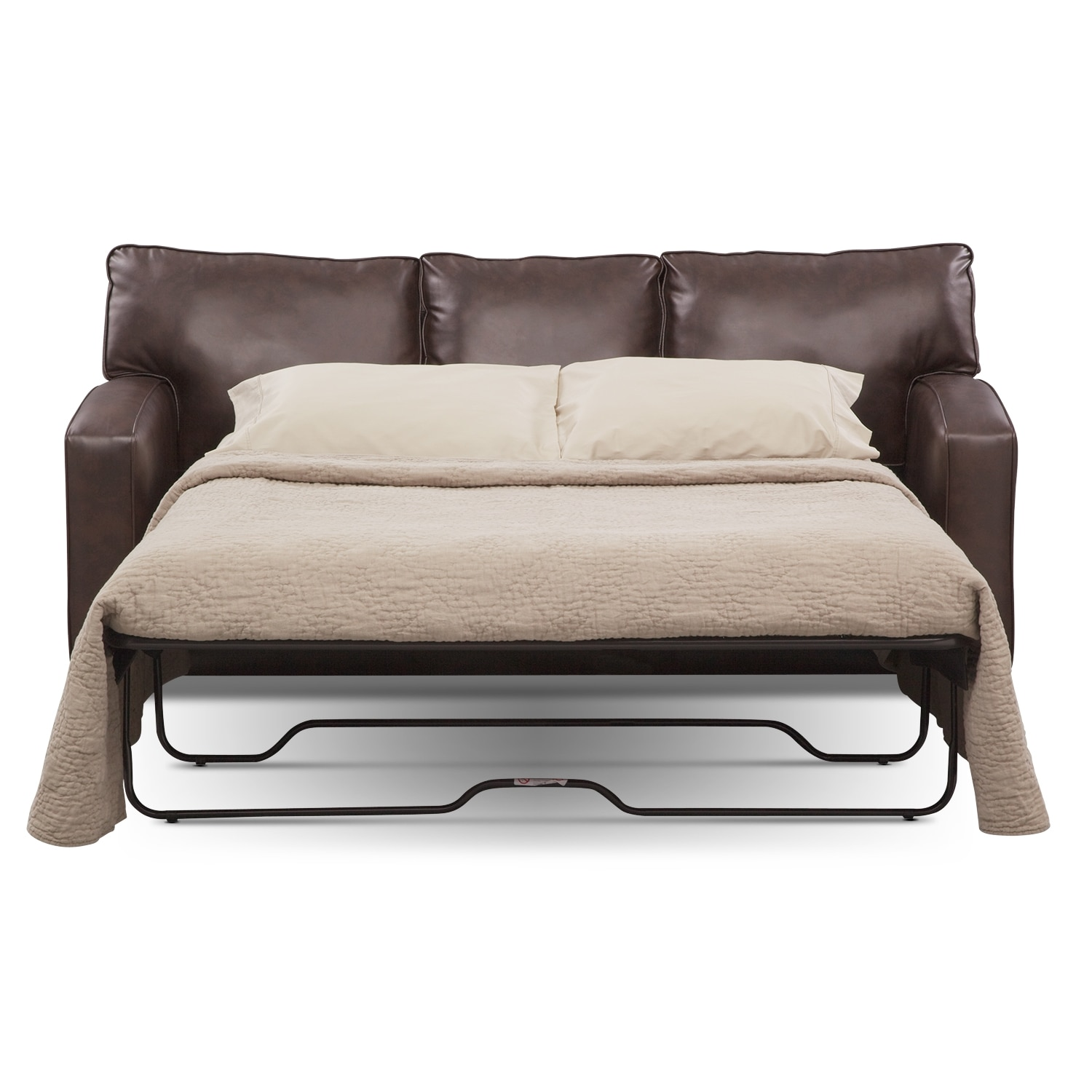 Brookline queen innerspring sleeper sofa value city for Sofa bed value city furniture