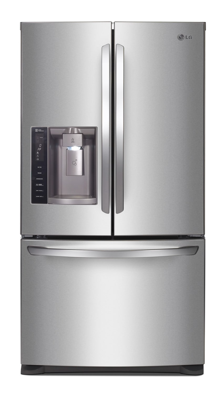 Refrigerators and Freezers - LG Stainless Steel French Door Refrigerator (26.8 Cu. Ft.) - LFX28968ST