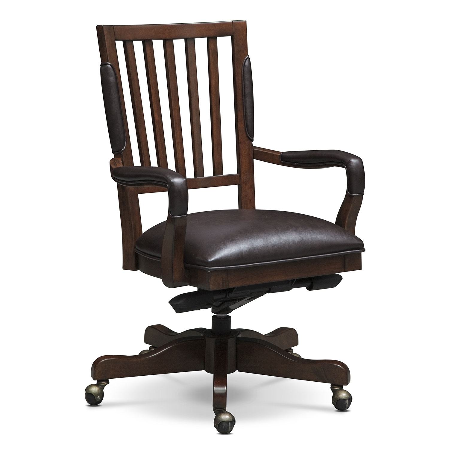Best Value Furniture Store: Ashland Executive Desk And Chair Set - Cherry