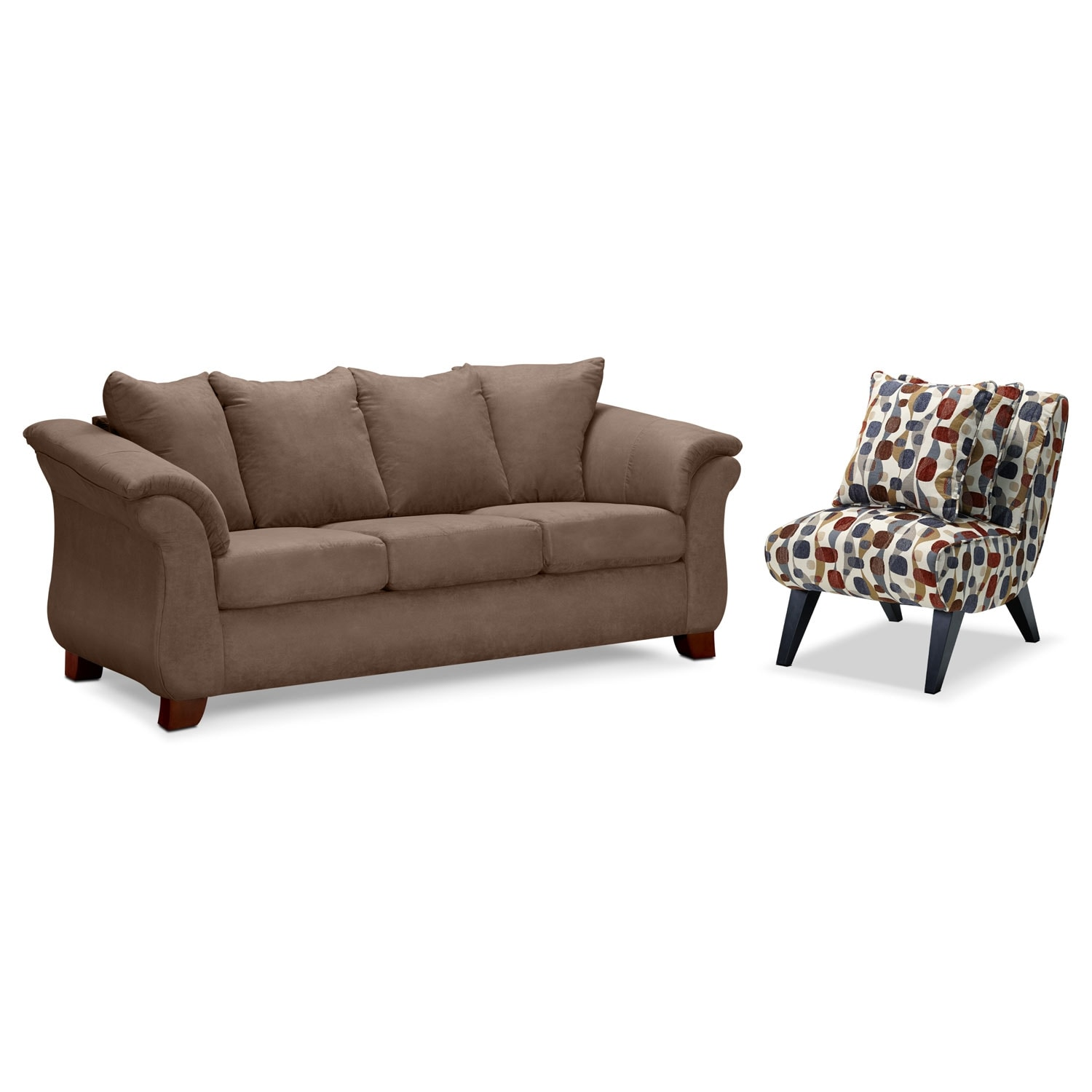 The adrian collection taupe value city furniture