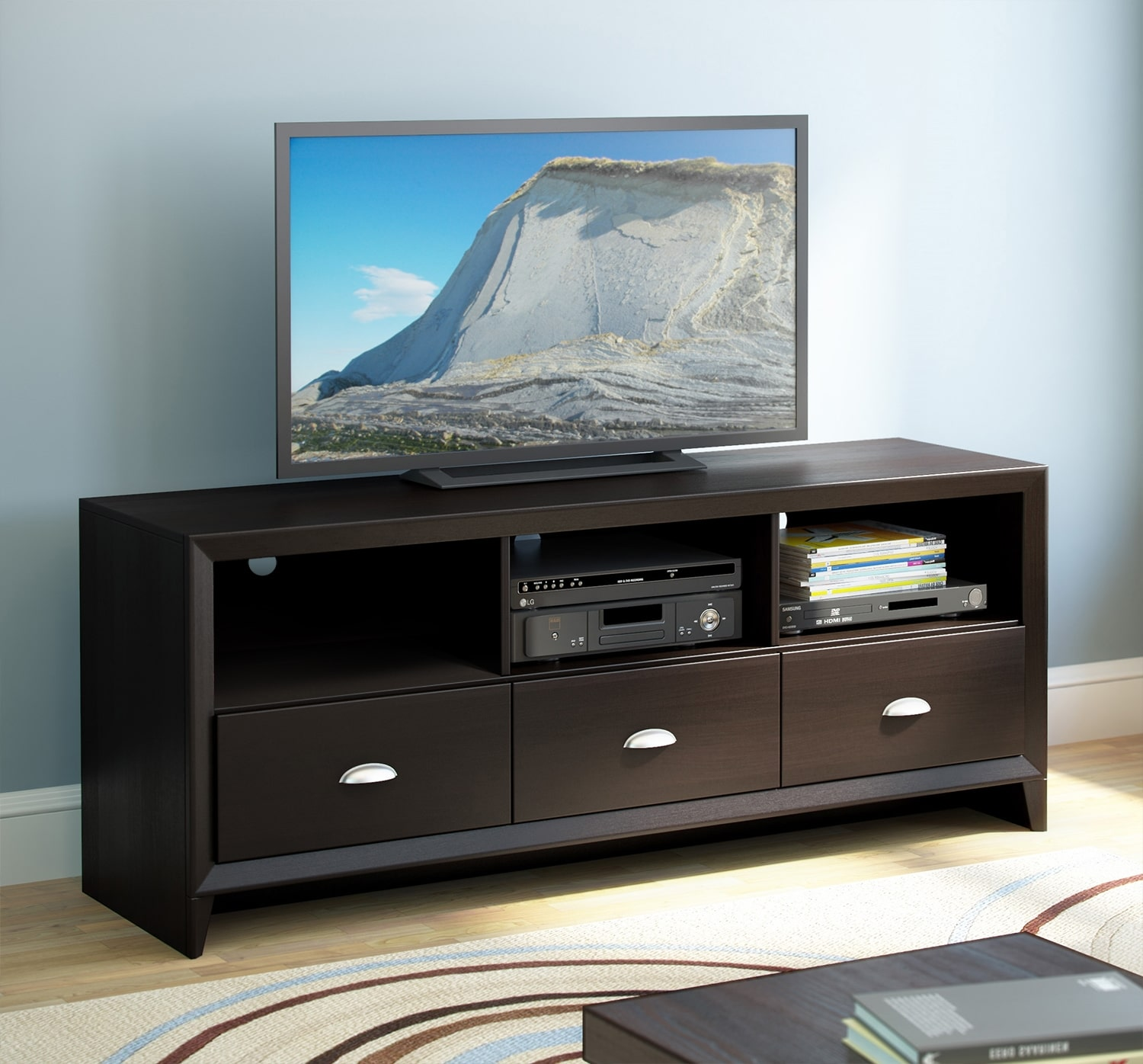 Entertainment Furniture - Hanover TV Credenza - Espresso